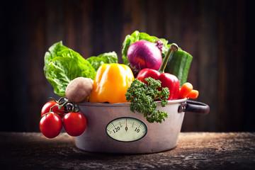 frisches Gemüse im mystic light