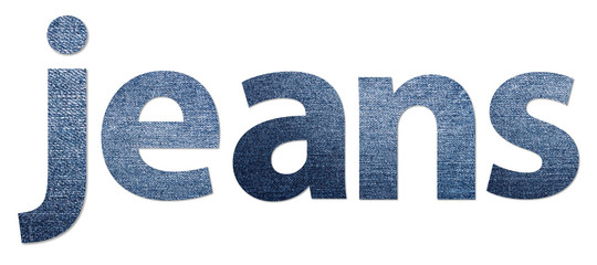Jeans Word Made Of Jeans Texture Alphabet Letters