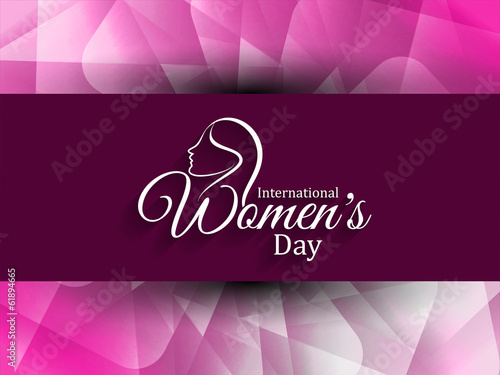 Elegant women's day card design. vector illustration