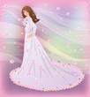 Spring bride, vector illustration
