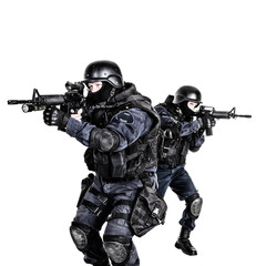 SWAT team in action