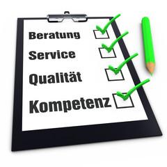 Beratung - Service - Qualität - Kompetenz
