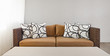 Beige sofa with pillows