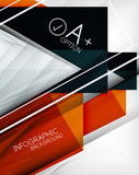Infographic geometrical shape abstract background