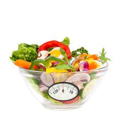 Salat mit analoger Anzeige Waage