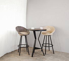 Bistro furniture as interior furniture