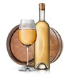 Barrel and wine isolated