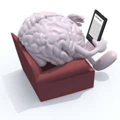 brain organ reading a electronic book