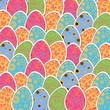 Vector Illustration of a Decorative Easter Background