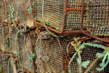 Old fishing cages