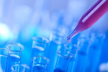 Test tubes closeup, laboratory