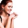 attraktive lachende junge Frau