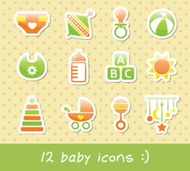 green baby icons