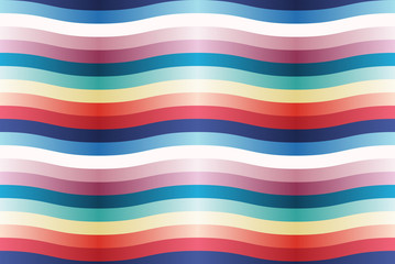 Vector seamless pattern with color wavy strips.