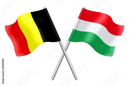 Flags: Belgium and Hungary