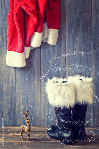 canvas print picture Santa's Boots