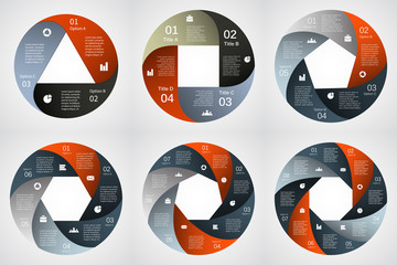 Modern vector info graphics set for business project