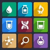Chemical Flat Icons Set 49