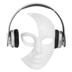 Headphones player carnival mask