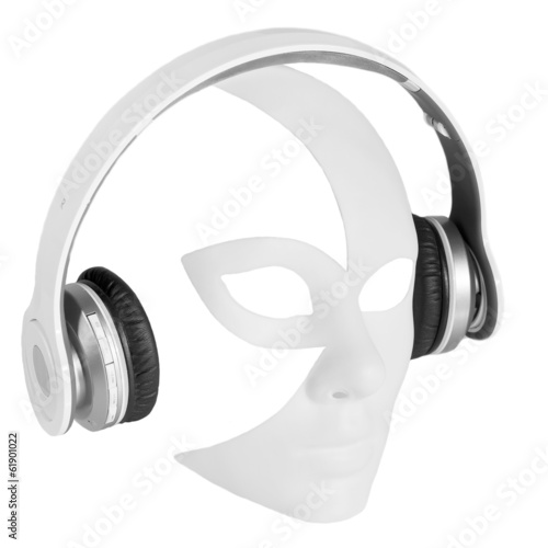 Headphones player carnival mask