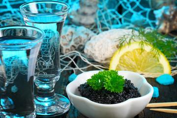 Kaviar und Wodka