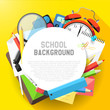 School flat design background with copyspace