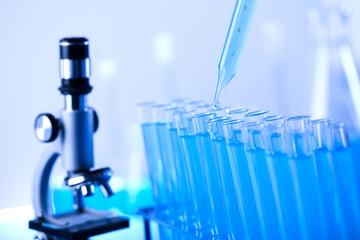 Laboratory tools, Pipette fluid, test tubes