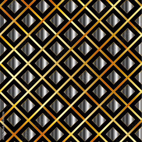 Metallic tile background