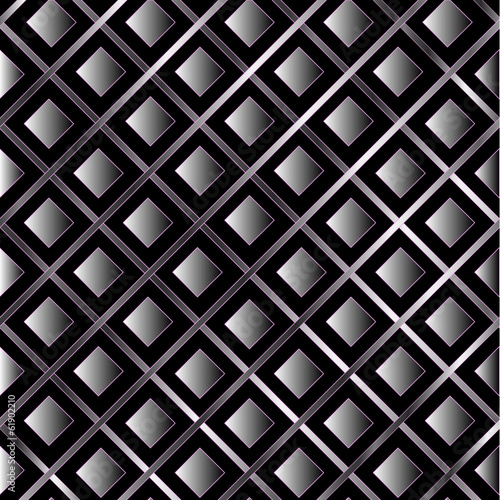 Metallic tile background with diagonal stripes and boxes