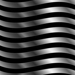 Fractal background with silver sine waves against black