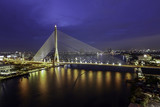 The Rama VIII bridge Twilight Landscape (Bangkok Thailand)