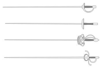 cartoon image of rapiers set