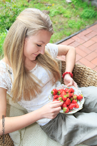strawberies on patio