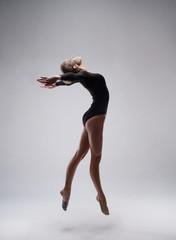 cute woman gymnast