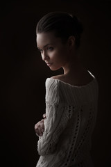 Fashion photo of woman beauty