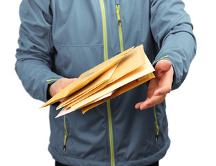 Mail letter envelopes delivery