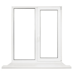 Plastic window frame isolated on white background