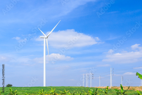 wind turbine clean energy concept