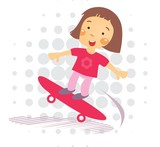 Skater little Girl - Illustration