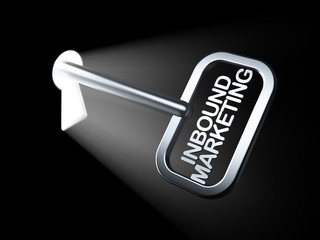 Business concept: Inbound Marketing on key