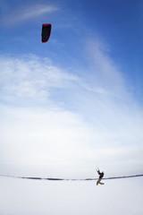 Snow Kite Boarding