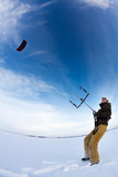 Snow Kite Boarding
