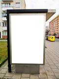Bus stop advertising billboard