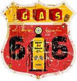 retro route 66 gas station sign,vector illustration