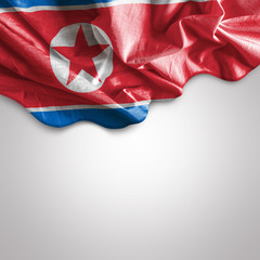 Waving Flag of North Korea, Asia