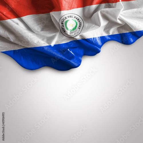 Waving flag of Paraguay, South America