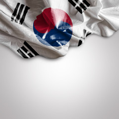 Waving flag of South Korea, Asia