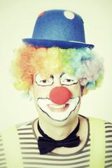 Grinsender Clown