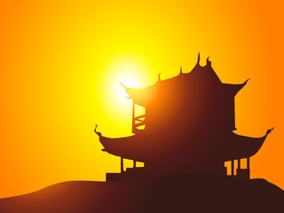 Morning Pagoda-Vector