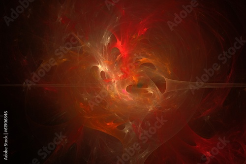 Red abstract fractal background